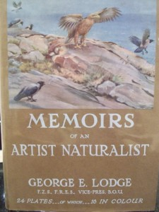 MEMOIRS OF AN ARTIST NATURALIST GEORGE E. LODGE F.Z.S., F.R.E.S., VICE-PRES. B.O.U.      24 PLATES---OF WHICH---16 IN COLOUR