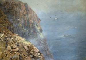 Albino White-Tailed Sea Eagle Oil Painting